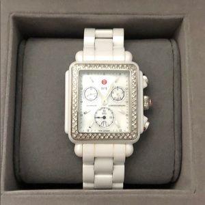 Accessories - Michele Ceramic Deco Diamond Watch